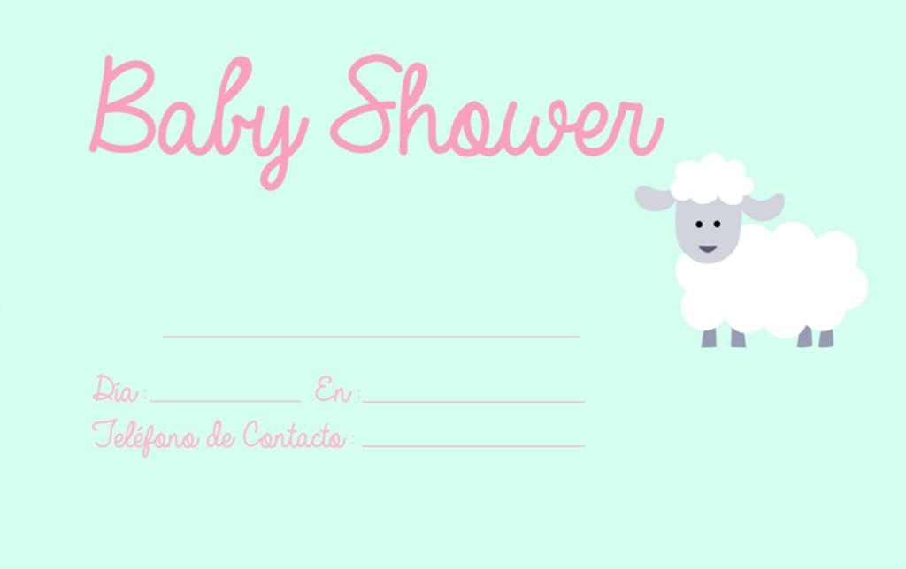 Invitaciones De Baby Shower Ovejita Invitaciones De Baby Shower Para Imprimir Baby Shower Invitaciones Invitaciones