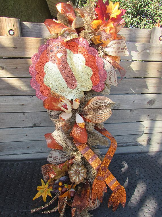3 thanksgiving wreath turkey door decor corn husk wreath