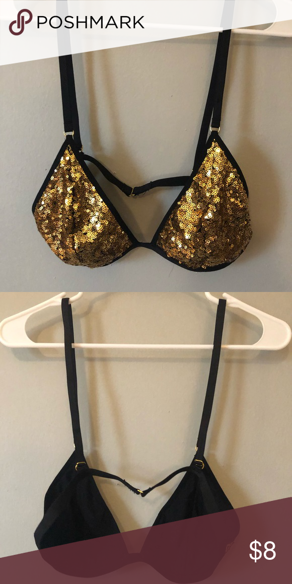 9337ffc8cdf615 F21 gold sequin bralette Forever 21 gold sequin bralette. Bought it for a  New Years party but never ended up wearing it. Forever 21 Intimates    Sleepwear ...