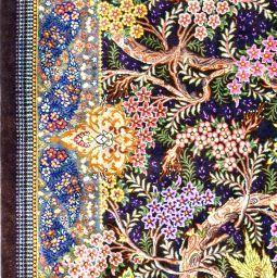 Qum Tree of Life Silk Silk Persian Rug Item 1417