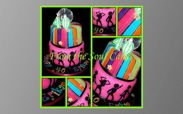 70's disco ball cake! | Gennie's Birthday | Dance party birthday