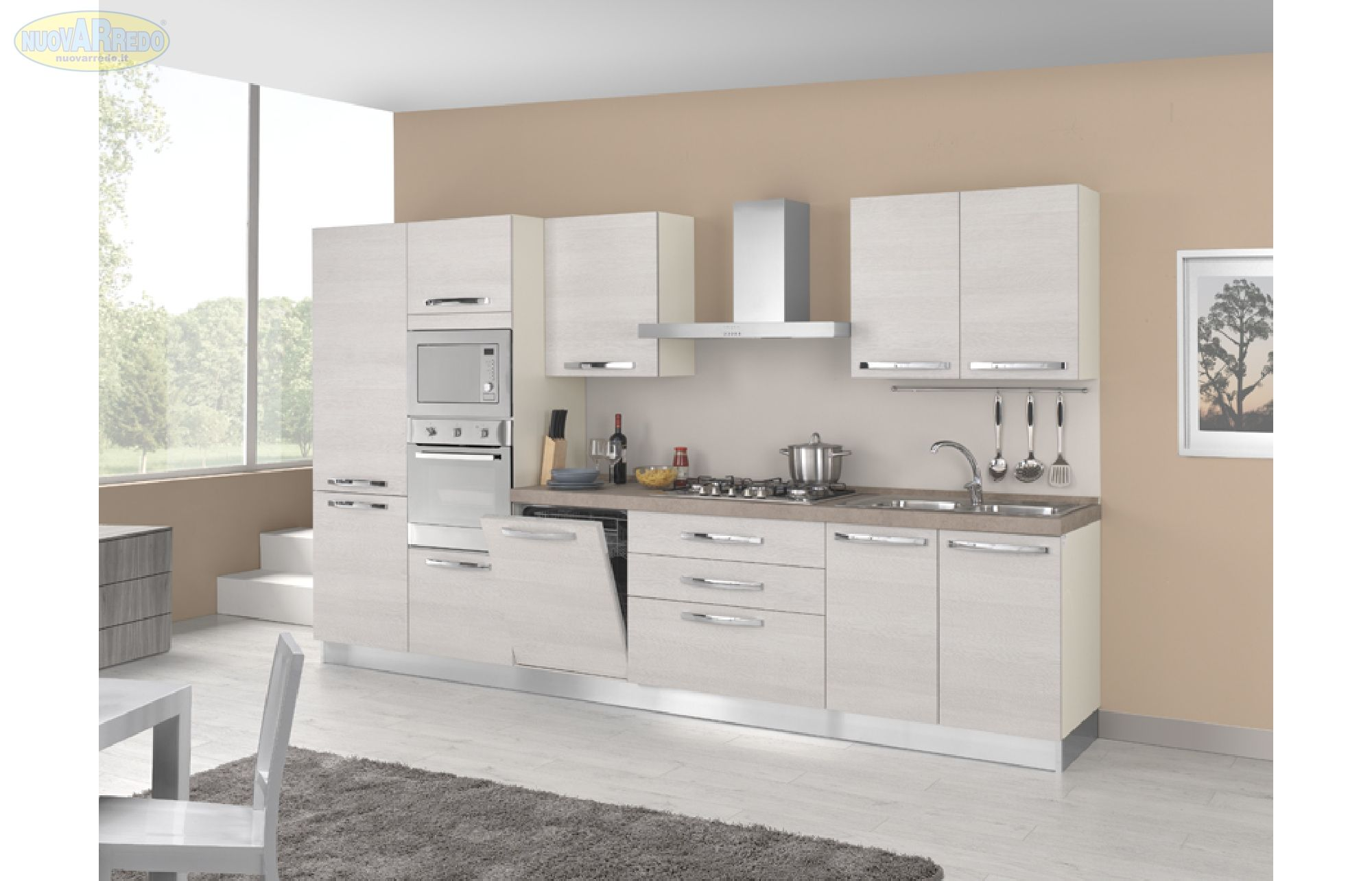Cucina In Pino Prezzi : Prezzo u ac cucina componibile mod brio completa di