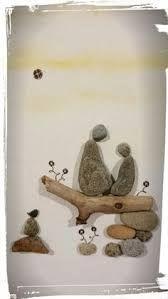 Resultado de imagen de cuadros hechos con piedras de playa ideas chulas pedras arte y - Cuadros hechos con piedras ...