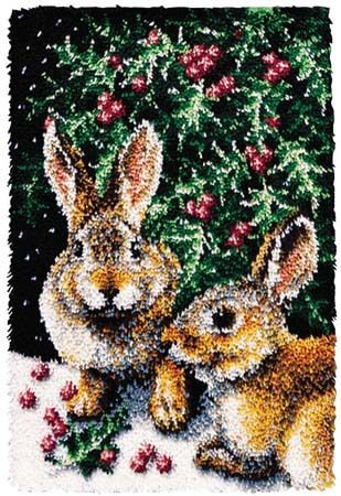 Bunnies Latch Hook Kit 21 X 32 Ebay
