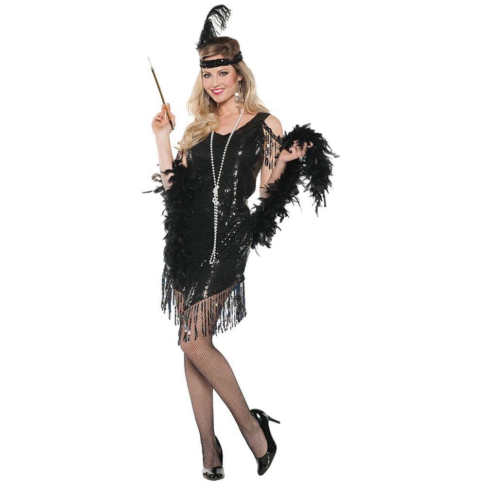 1920/'s Swingin Flapper Women Adult Costume Gold