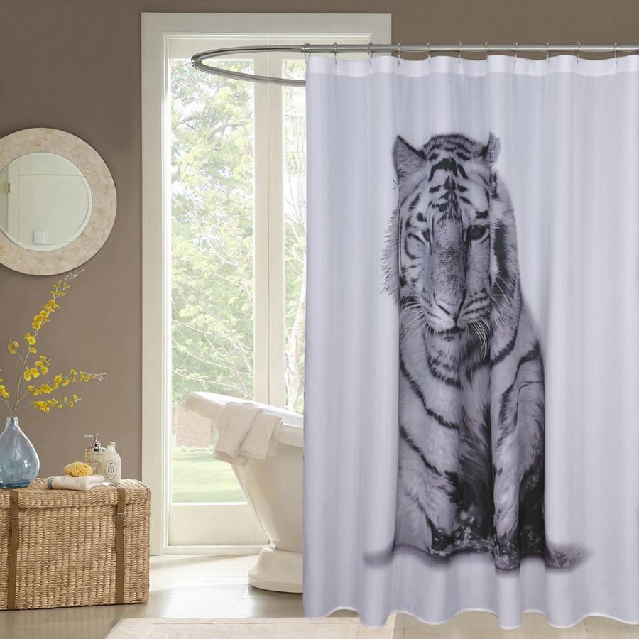 Tiger Tigers Design Shower Curtains Showercurtains Bathrooms