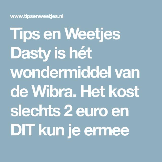 Dasty is hét wondermiddel van de Wibra. Het kost slechts 2 euro en ...