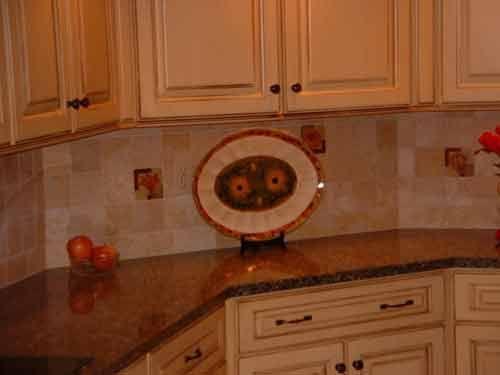 Fruit Basket Backsplash Tile Mosaic Medallion | Tile design, Kitchen ...