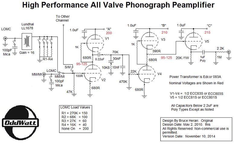 Tube Phono Preamplifier Schematics - Wiring Diagram Write