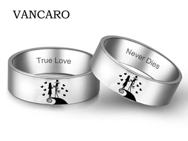 VANCARO Nightmare before Christmas Jack and Sally rings. Do you ...