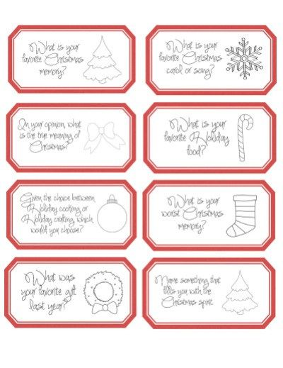 image relating to Printable Conversation Cards referred to as Xmas Countdown Interaction Playing cards Xmas