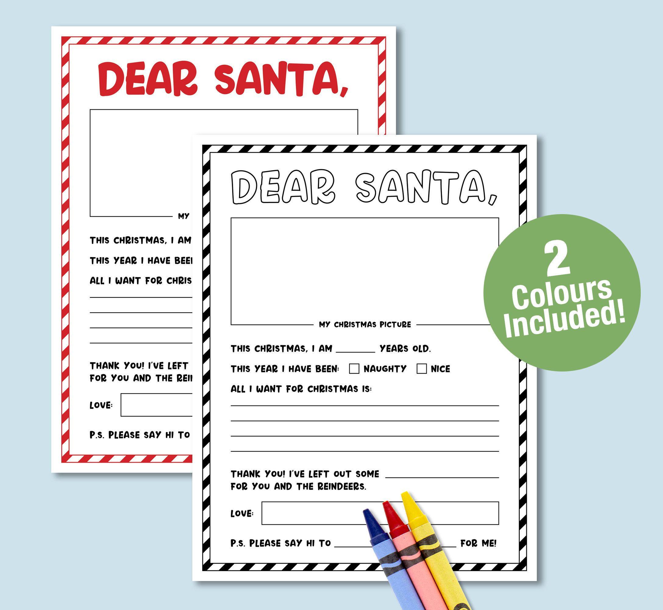 Letter To Santa Santa Letter Printable Teacher S