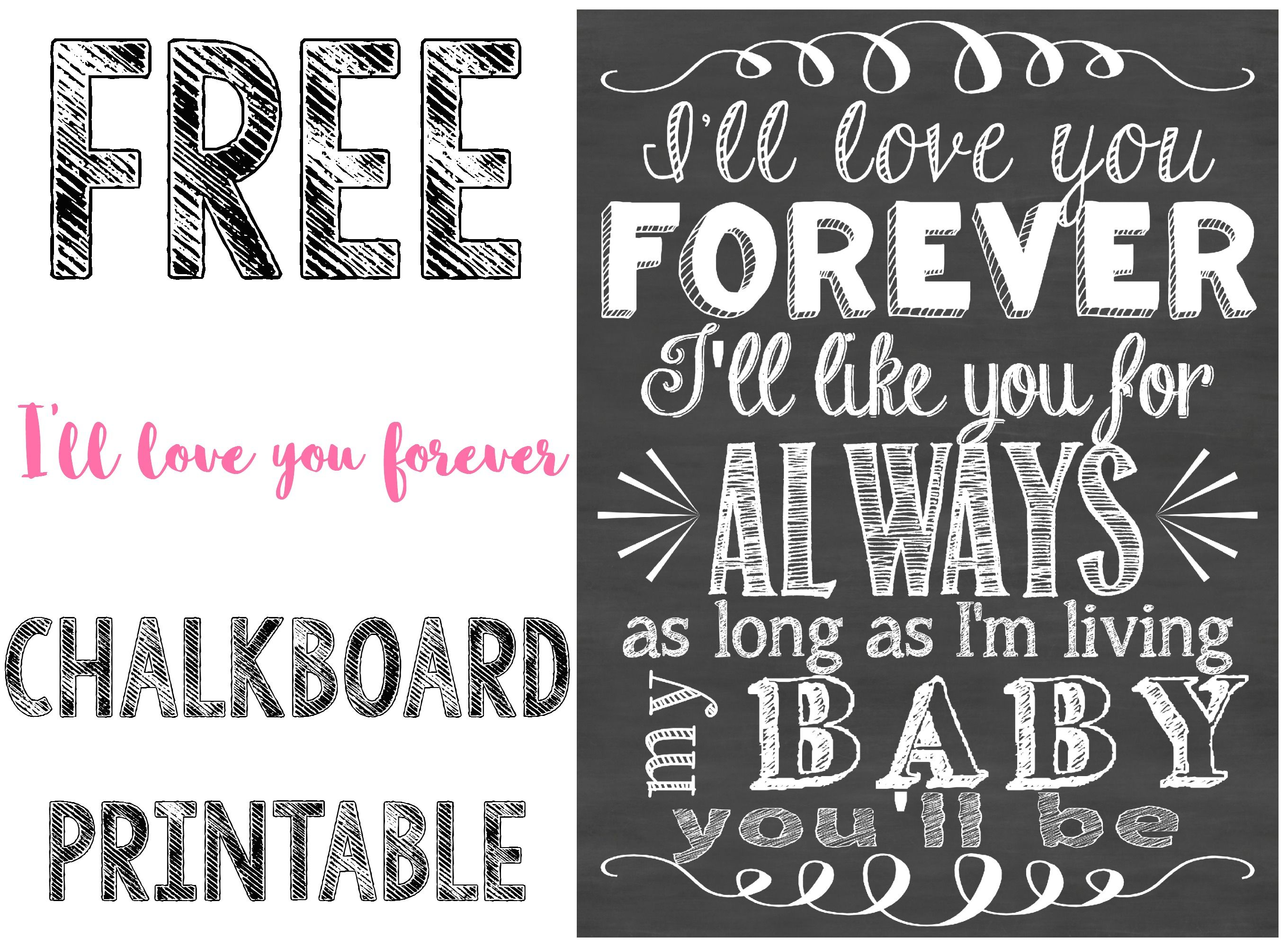 photo about Printable Chalkboard Signs referred to as Totally free \u201cIll Delight in Oneself Without end\u201d Chalkboard Printable
