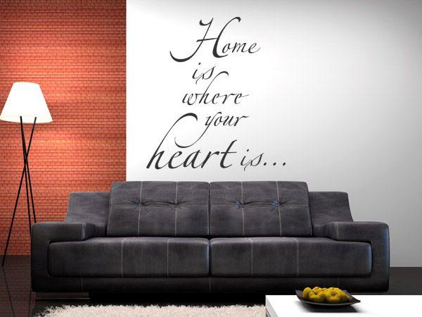 Wandtattoo Spruch Home is It\u0027s simply me Pinterest - wandtattoo schlafzimmer sprüche