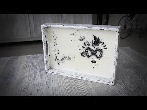 Eskitme Sehpa - Stencil ve Eskitme Uyguladığım Sehpa - YouTube