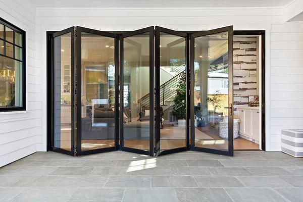 Bi Fold Patio Doors Folding Patio Doors Multi Slide Patio Doors Ag Millworks In 2020 Folding Doors Exterior Modern Exterior Doors Bifold Patio Doors