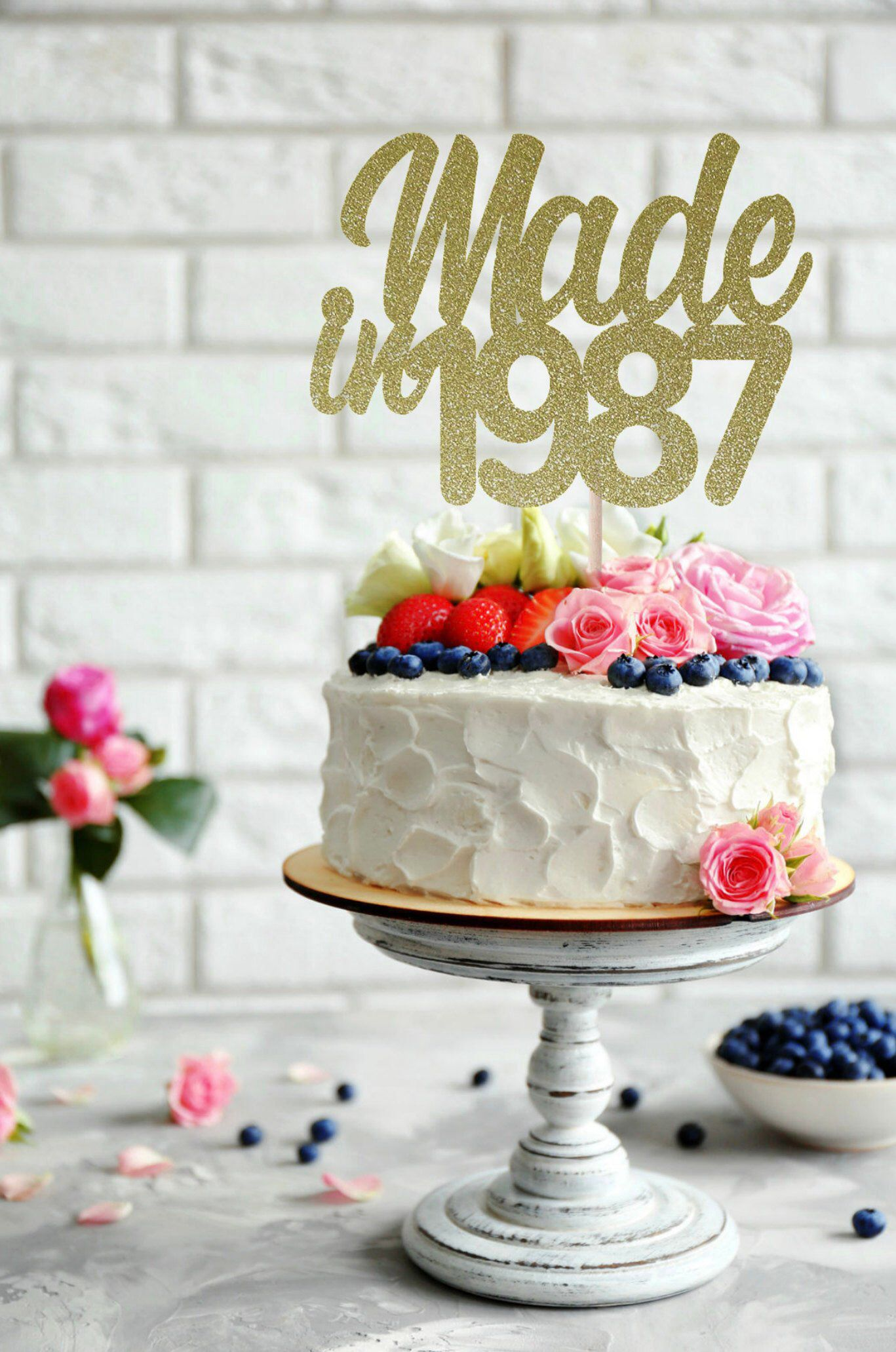 Made In 1987 Cake Topper 31st Birthday Birth Year