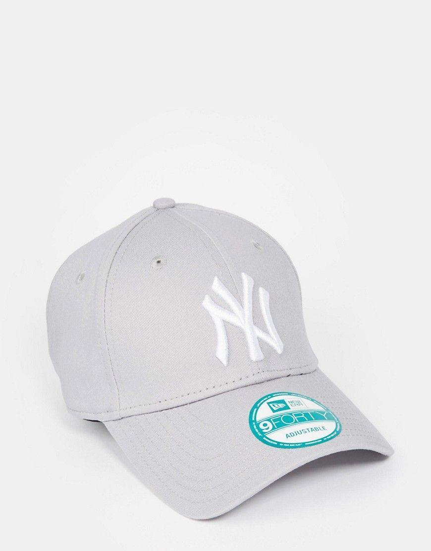 4d1f7c9899b New Era 9Forty NY Adjustable Cap in Gray - Gray