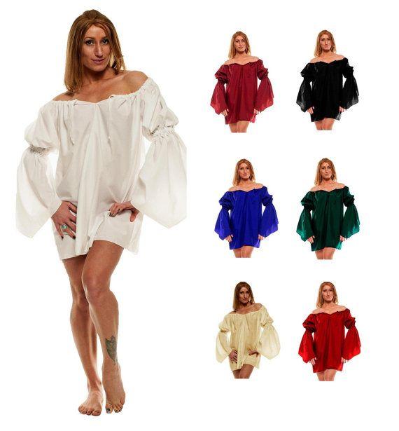 4c274859657 RENAISSANCE COSTUME MEDIEVAL Clothing Peasant Top Pirate Wench Costume  Shirt Renaissance Dress Up Civil War Top Womens Renaissance Shirt