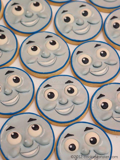 Thomas the Train custom cookies