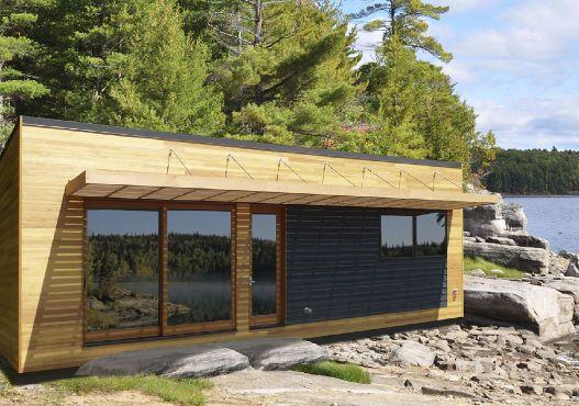 Micro Maison Prefabriquee Contemporaine En Bois De Plain Pied