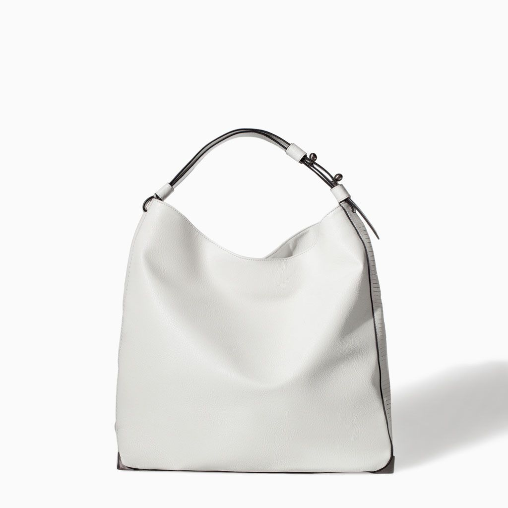 8610875afb Image 1 of SOFT BUCKET BAG from Zara | Bags! | Bags, White handbag ...