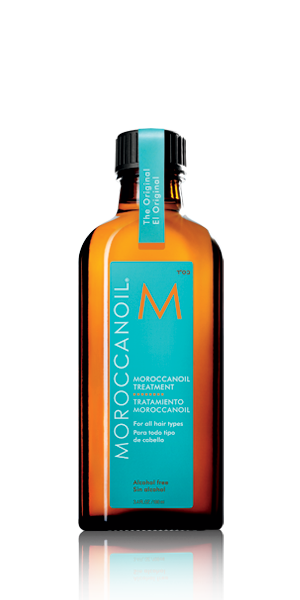 Moroccanoil Treatment. This treatment transforms and repairs. Put it on wet hair for a smooth, sleek blowout. It even speeds up trying time! Oh and it smells great too.