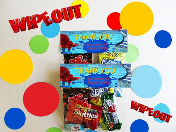 Pool Birthday Party Favor Ideas 18 ways to make your kids pool party epic brit co Wipeout Birthday Party Favor Bag Toppers Pool Birthday Party Favor Waterslide Birthday Party Favor