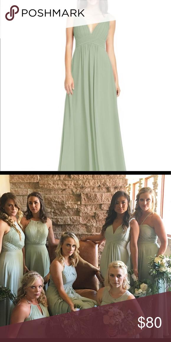 567461384bd Azazie Maren Dusty Sage Dress Popular bridesmaid dress from Azazie! Only  worn once. Dresses Wedding