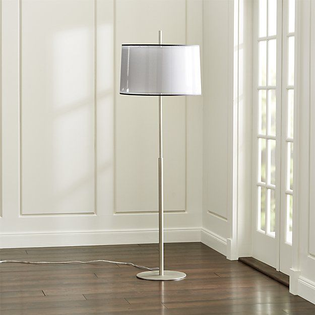 Eclipse Silver Floor Lamp Reviews Crate And Barrel Bronze Floor Lamp Silver Floor Lamp Contemporary Floor Lamps
