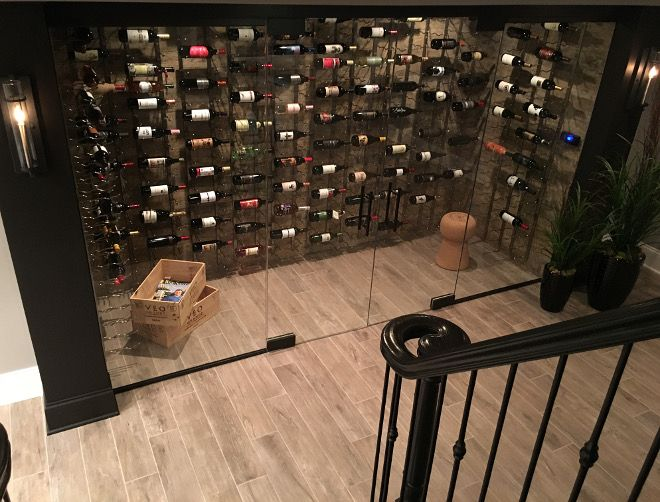 Basement Wine Cellar. Modern Basement Wine Cellar