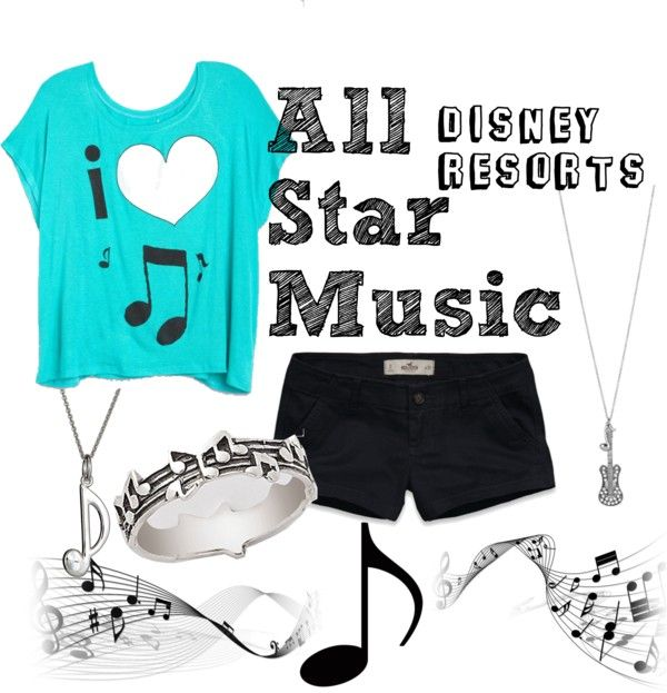 """All Star Music Resort"" by disney-bound ❤ liked on Polyvore"