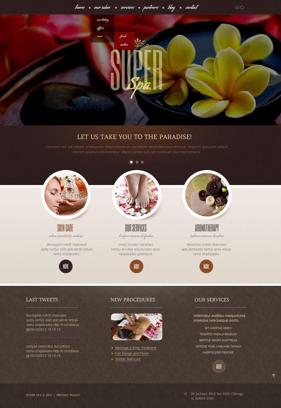 Beauty Salon WordPress Theme Wordpress TemplateWordpress ThemeWebsite