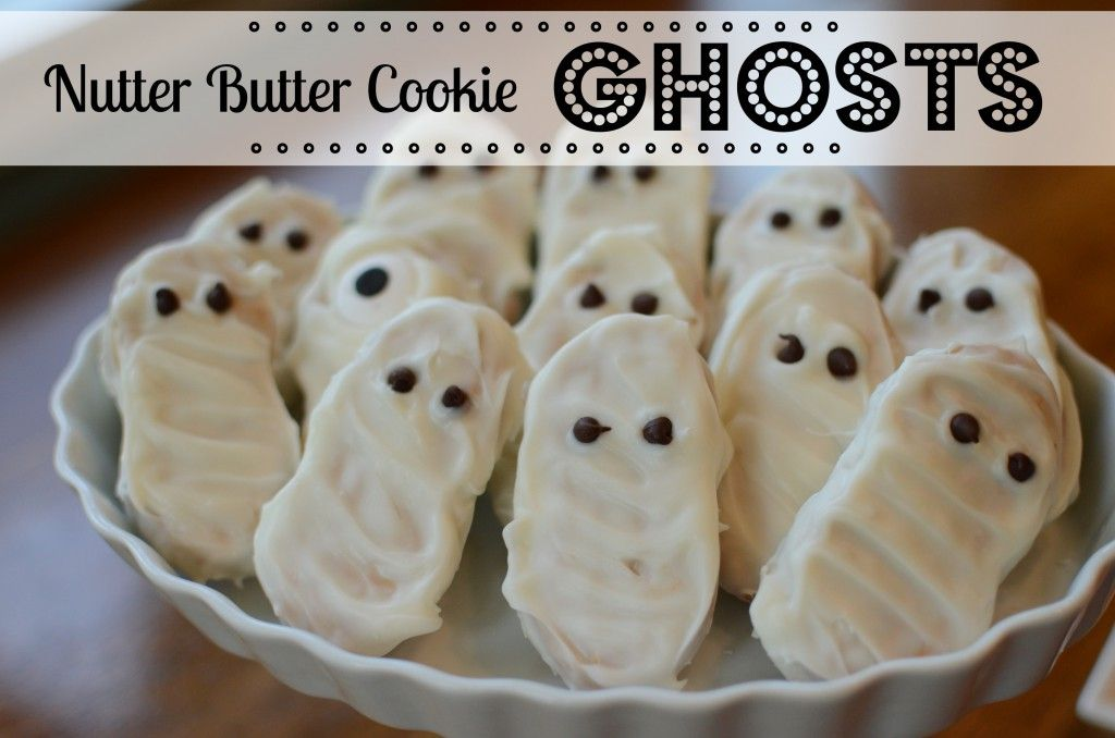 Halloween Treats: Nutter Butter Ghosts (or mummies!) Delicious too!
