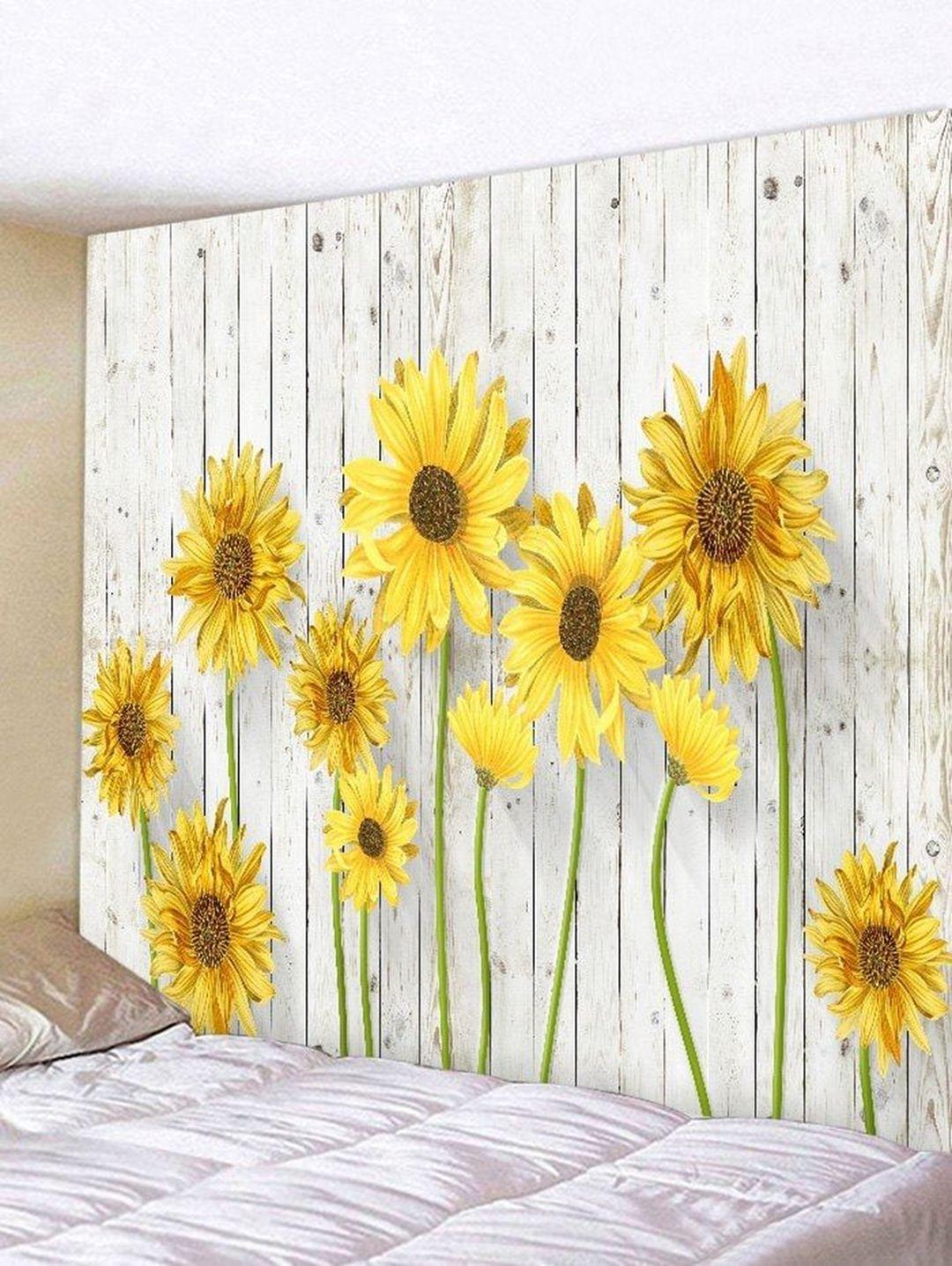 Lovely 9 Diy Sunflower Bedroom Decoration Ideas Tapestry