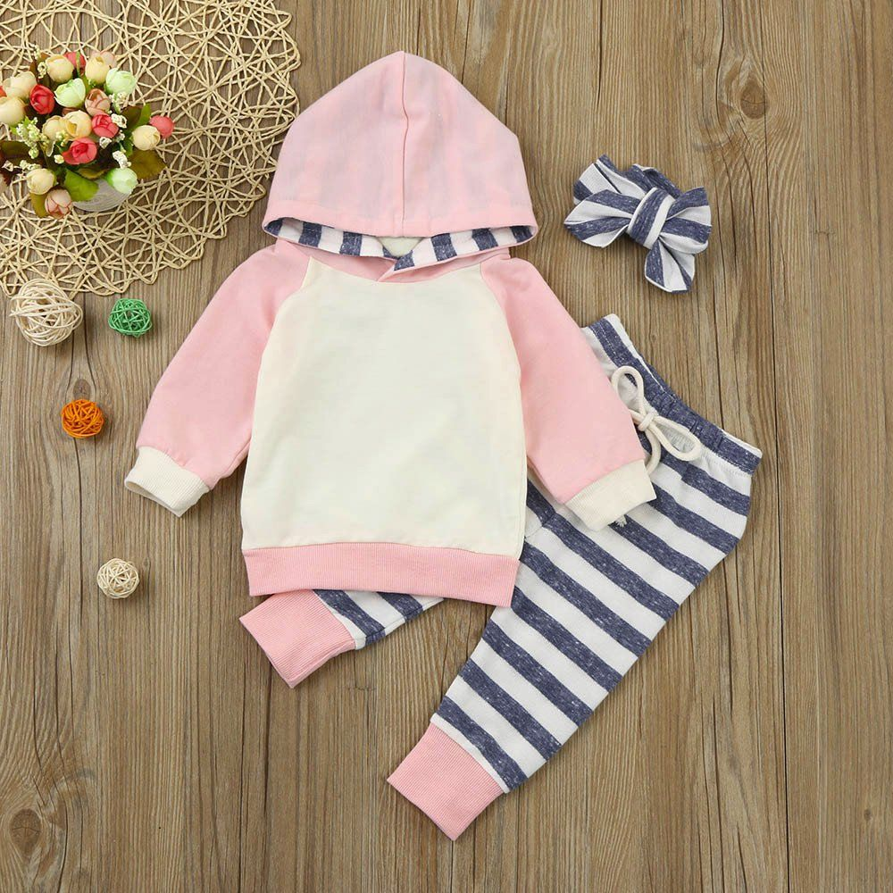 53432afdb Dreamyth 3pcs Toddler Baby Boy Girl Clothes Set Hoodie Tops Pants ...