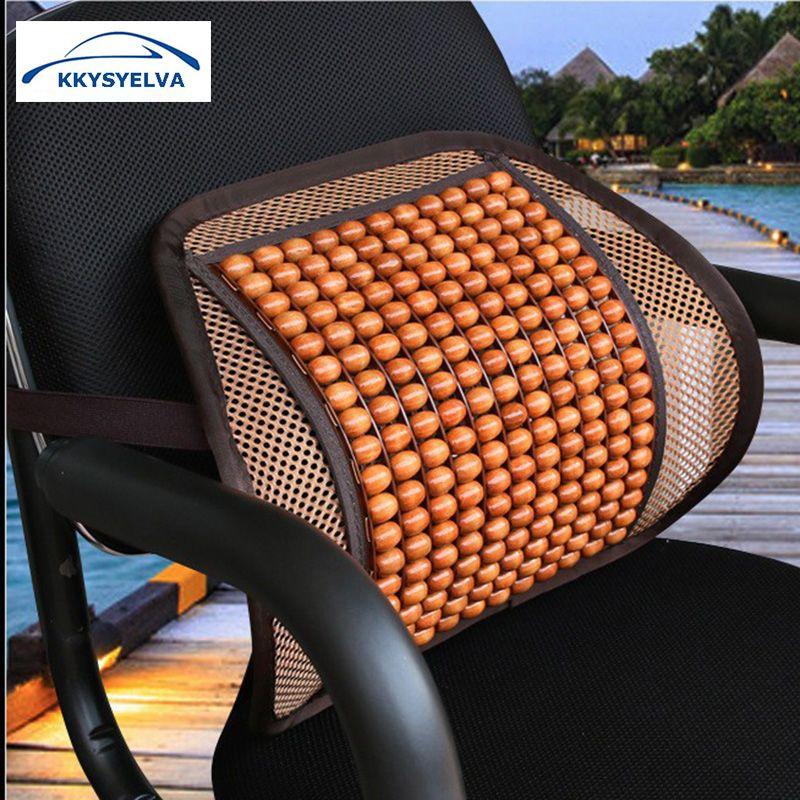 KKYSYELVA Car Seat Supports Mesh Lumbar Support