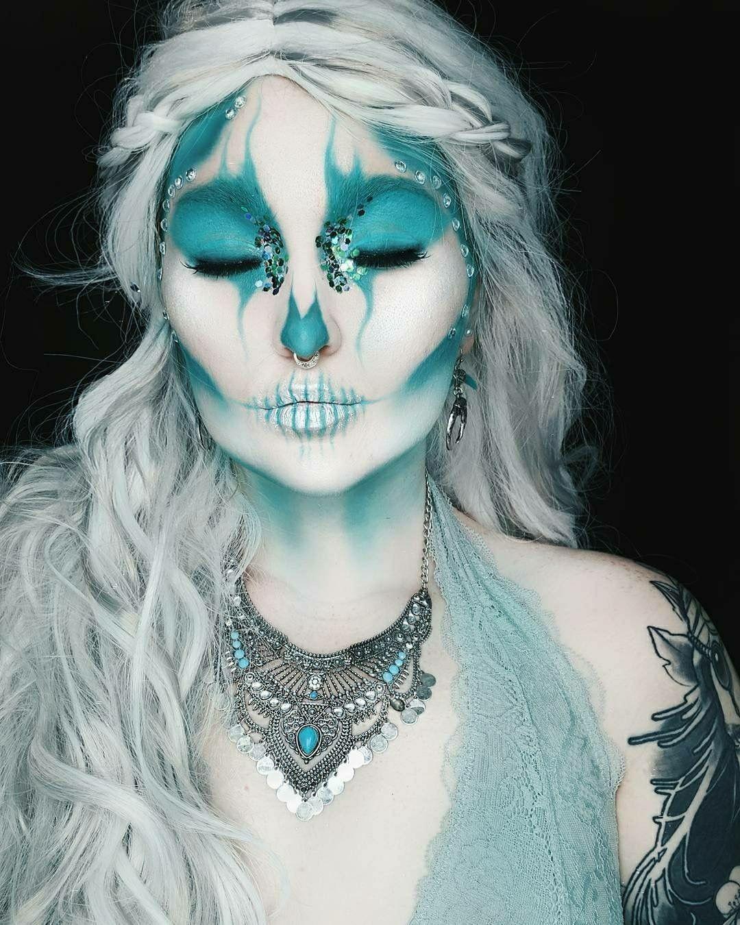 Frozen Skull Face Paint Skull Face Paint Fantasy Makeup Face Painting Halloween