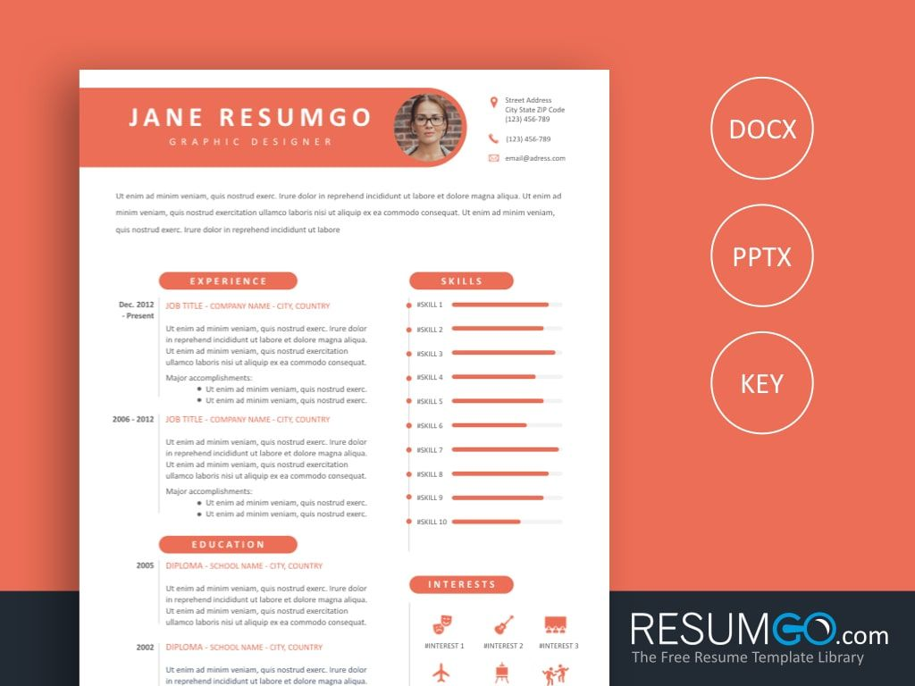 thecla - free capsule resume template