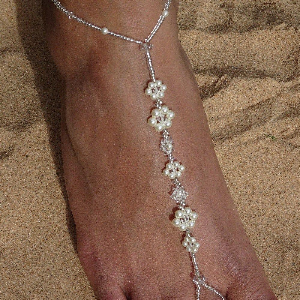 Connie ~ Pearl, Crystal & Seed Bead Bridal Sandal