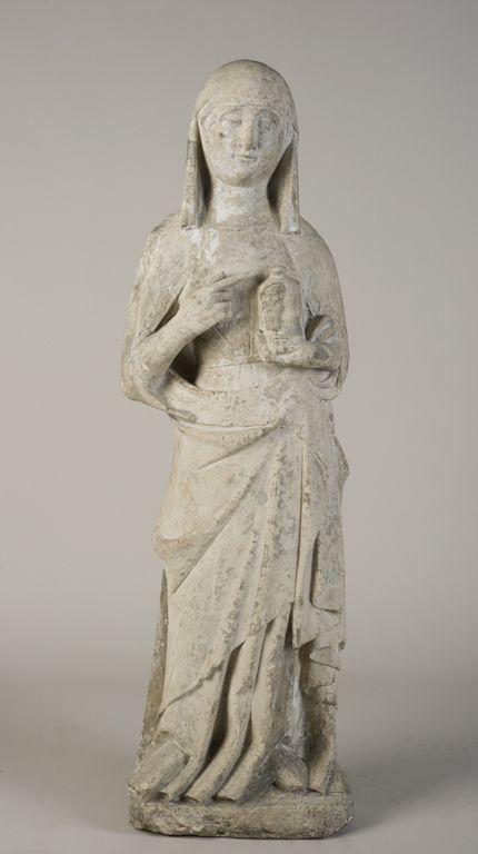 """St. Magdalene"" 14th century Artist unknown 109.2 cm Limestone North Carolina Museum of Art"