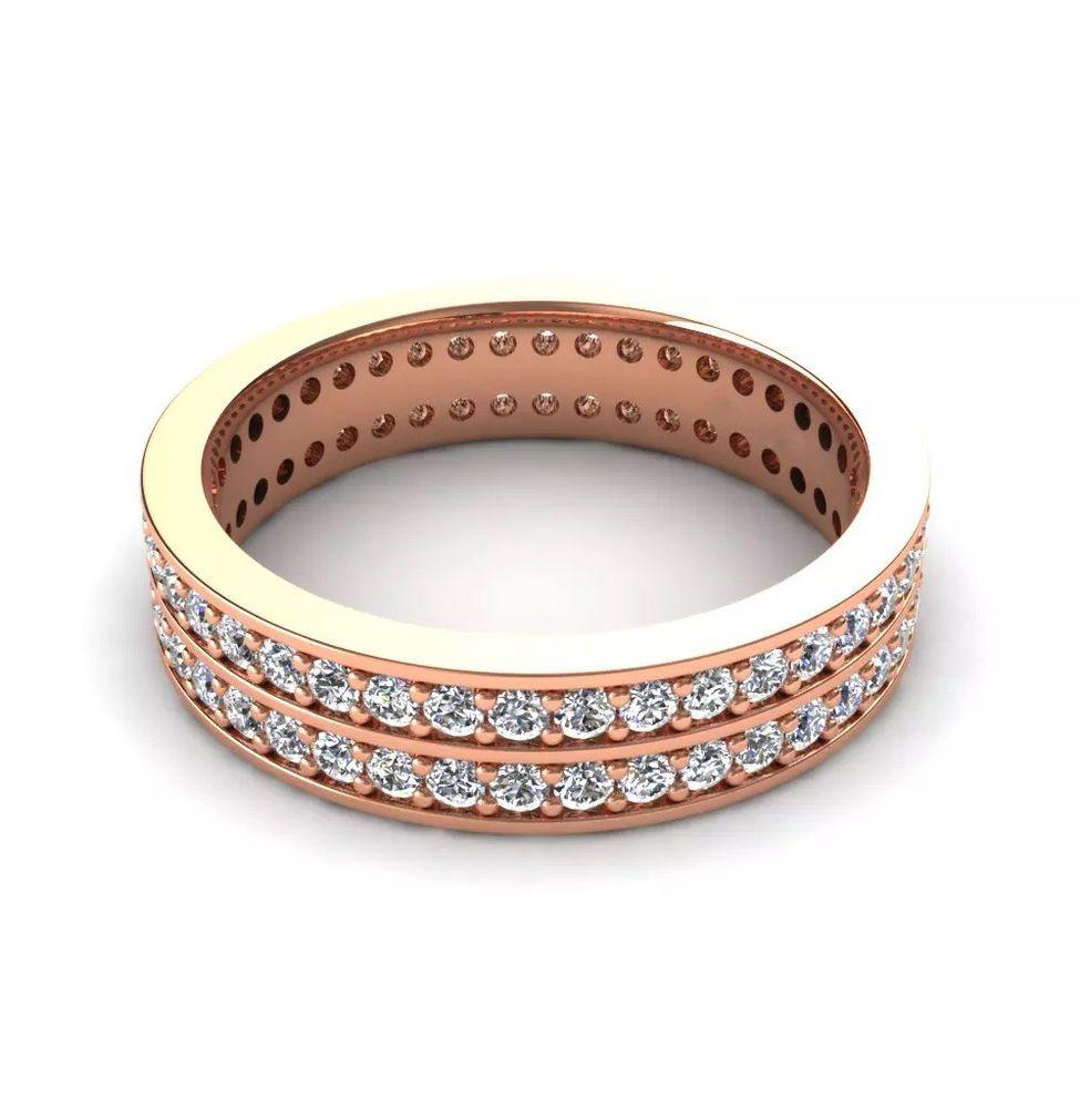 IGI Certificate 1.00Ct Round Diamond Full Eternity Wedding