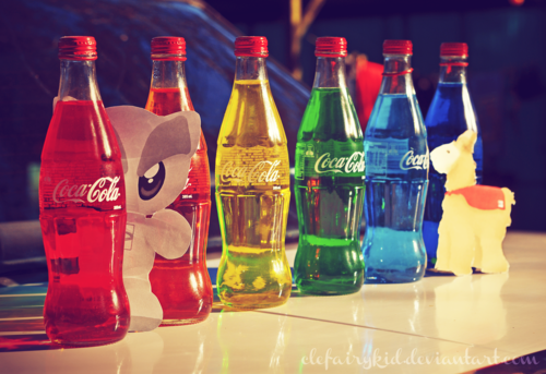Glass coca-cola bottles