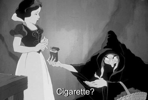 Smoking Snow White by unknown artist.