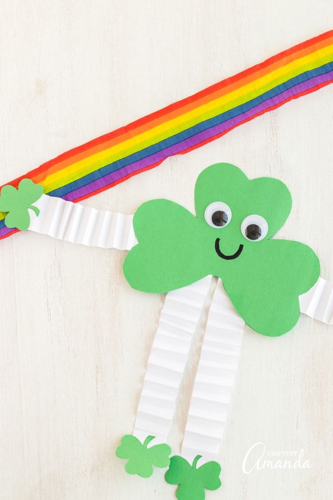 shamrock man craft made from construction paper in 2020 ...