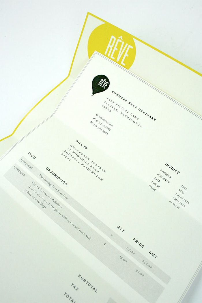 50 Creative Invoice Designs for Your Inspiration invoices - invoice designs