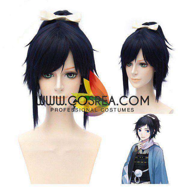 Touken Ranbu Yamatonokami Yasusada Costume Cosplay Hair Anime Wig CAP