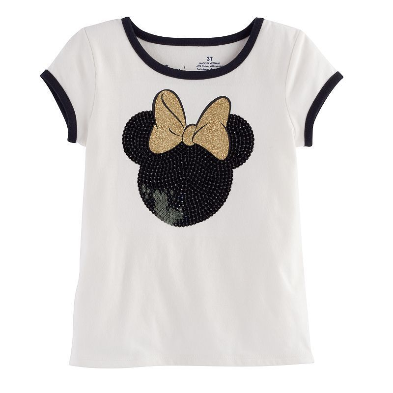 3ee240454 Disney's Minnie Mouse Toddler Girl Basic Ringer Tee by Jumping Beans®,  Size: