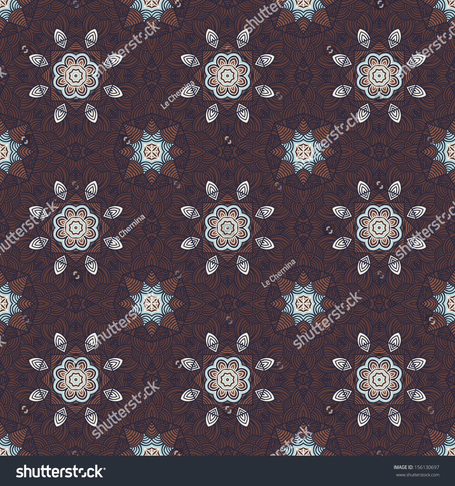 Manly seamless floral background in oriental style Best for textile or wrapping