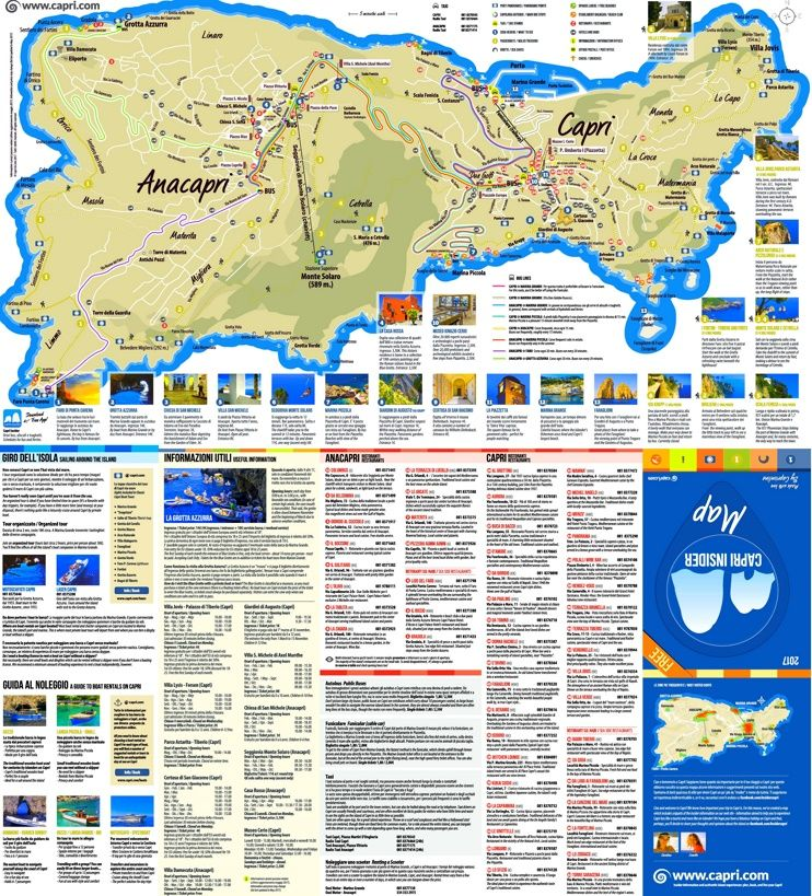 Capri sightseeing map Maps Pinterest Capri and Italy